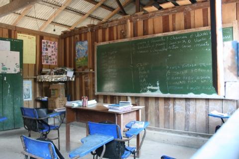 Inside the school of Xixuaú