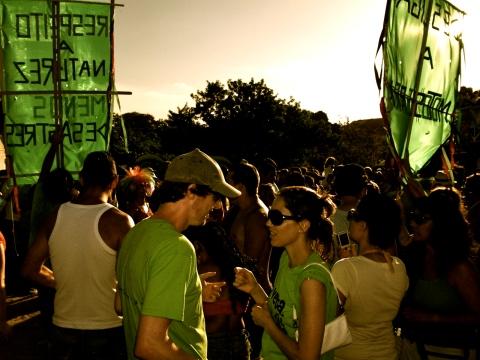 Veto Dilma protest