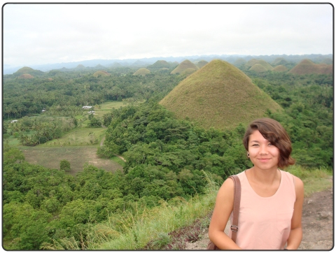 Abby Taylor in the chocolate hills