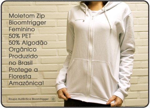 Moletom Zip Bloomtrigger Feminino