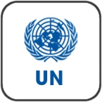 UN logo framed