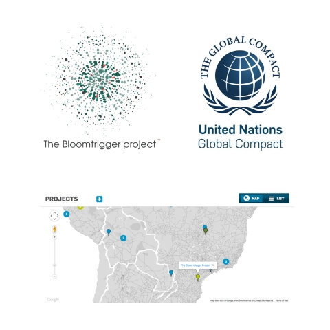 Bloomtrigger UN Compact endorsement with map