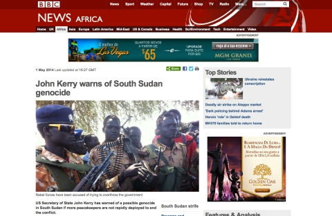 BBC report South Sudan