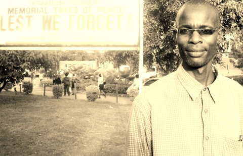 James Ochieng at Freedom corner, Uhuru park, Nairobi