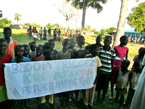 The South Sudan Bloomtrigger Club at Kan Ajak Primary School